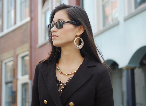 my-huong-look-outfit-blazer Outfit: Black vs. Gold