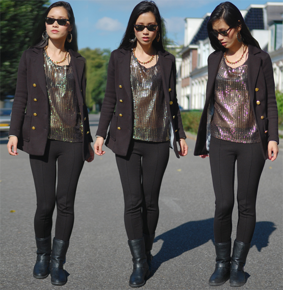 outfit-biker-boots-black-studs-gold-my-huong Outfit: Black vs. Gold