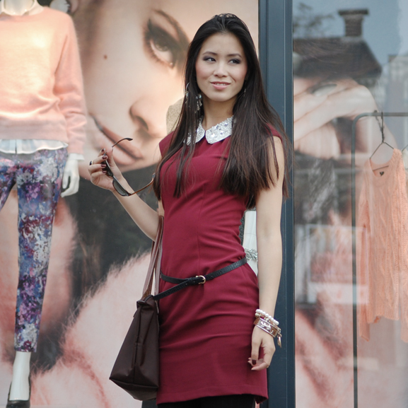 My-Huong-fashion-addict-hm-shoppen Outfit: Style in Burgundy