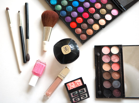 make-up-producten-i-used-guerlain-sleek-120-palette-givenchy-blush Cute pink make-up look
