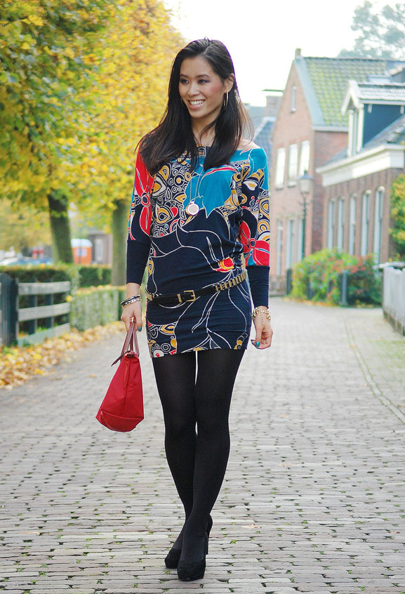 my-huong-drylst-ijlst-outfit-jurkje-look-fashion-blogger Outfit: French connection