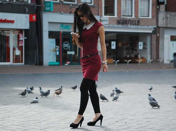 my-huong-outfit-fashion-bordeaux-rood Outfit: Style in Burgundy
