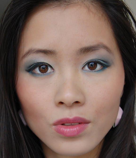 my-huong-pastel-eyelook Face of the day: pastel groen met blauw