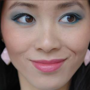 my-huong-pastel-ooglook-groen-roze-lippen-asian-make-up-300x300 Face of the day: pastel groen met blauw