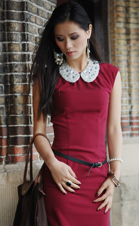 my-huong-red-burgundy-rood-dress-outfit Outfit: Style in Burgundy