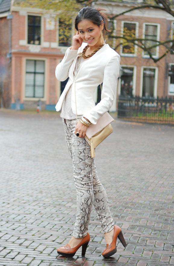 my-huong-slangenrpint-look-outfit-combineren-broek Outfit: The golden snake look