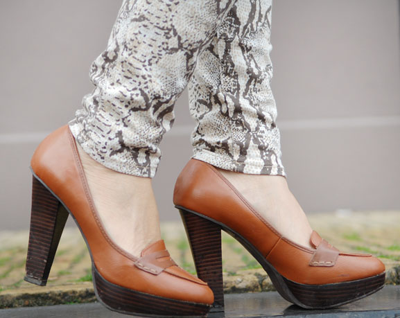 shoes-my-huong Outfit: The golden snake look