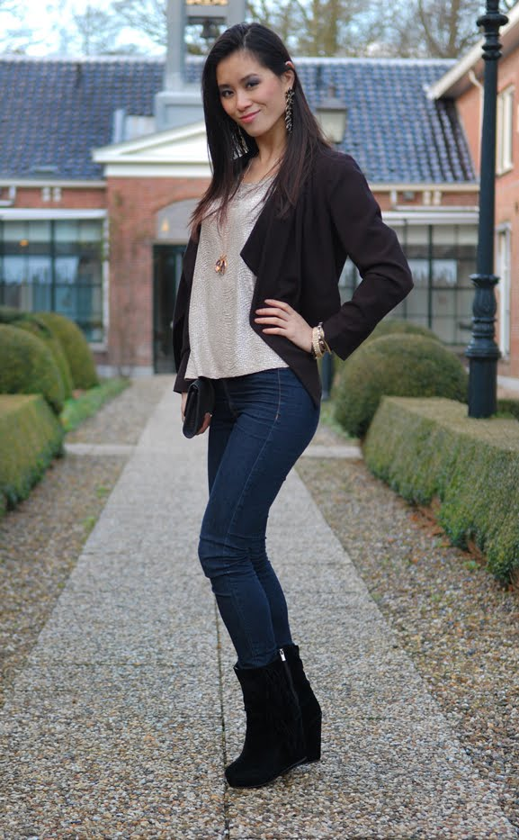 My-huong-look-outfit-chique-black-hippeschoenen Outfit: eenvoudig chique