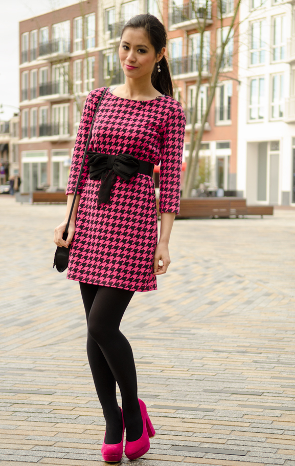 Hot-pink-outfit-hippe-schoenen-pink-pumps-miss-cherie-dior Outfit: Miss Cherie pink!