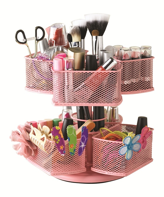 Make-up-Organizer-pink Make-up stash organiseren