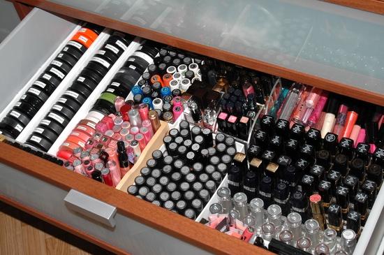 Make-up-organizer-stash Make-up stash organiseren