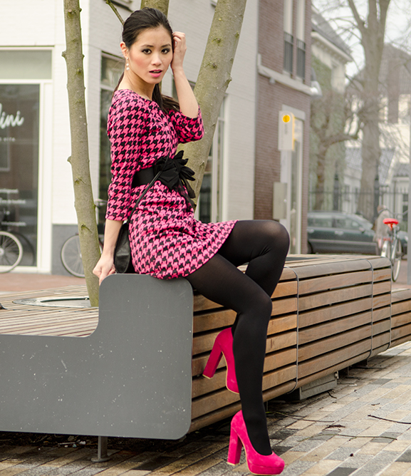 My-Huong-Outfit-pink-pumps-look-miss-cherie-dior-look-hotpink-black-asian-girl Outfit: Miss Cherie pink!