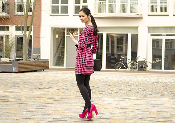 my-huong-outfit-pink-shoes Outfit: Miss Cherie pink!