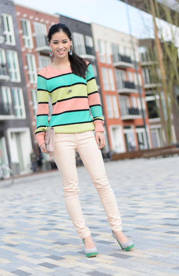 Full-body-outfit-Maison-Scotch-colour-peachy-supertrash-pants-my-huong-miss-roberta-pumps-summer-spring-2013 Outfit: Peach spring look