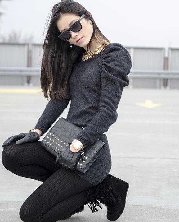 look-chique-my-black-gold Outfit: Black Velvet
