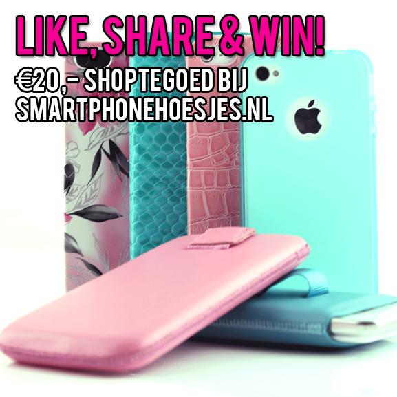 Like-Share-Win WIN €20,- bij smartphonehoesjes.nl