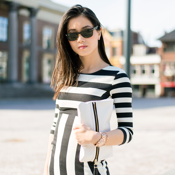 My-Huong-Gestreepte-jurk OUTFIT: The striped dress