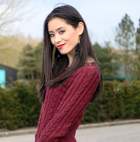 My-Huong-Outfit-Burgundy Outfit: Lady in Red