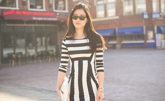 My-Huong-wayfarer-zaailand-leeuwarden-striped-dress OUTFIT: The striped dress