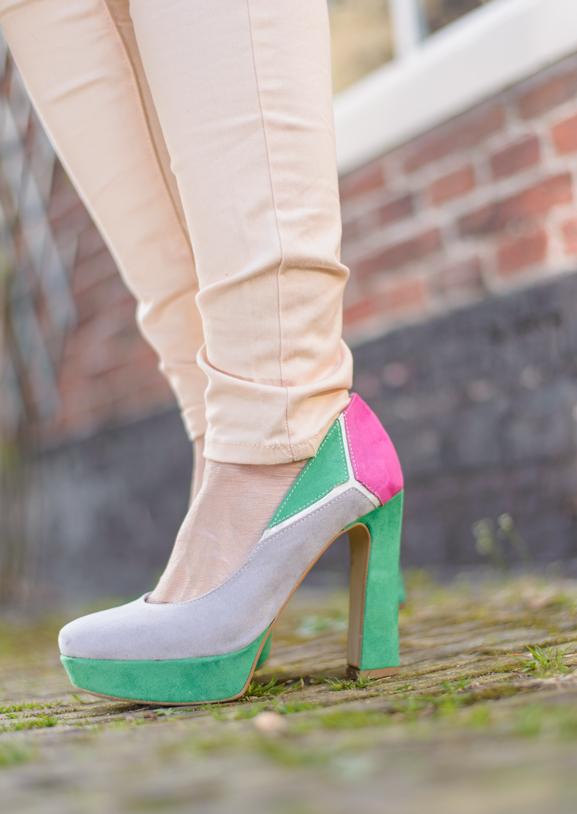 Miss-Roberta-Multi-Colour-pumps Outfit: Floral pastel