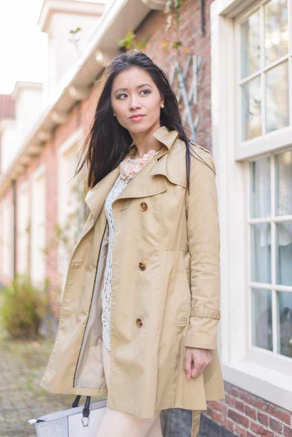 My-HUong-trench-coat Outfit: Floral pastel