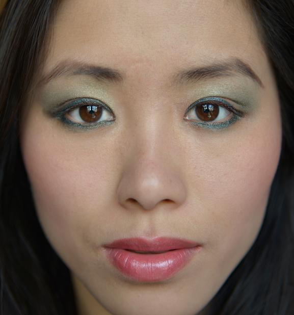 my-huong-look-face-make-up-Guerlaing-spring-kaki Guerlain Spring collectie 2013