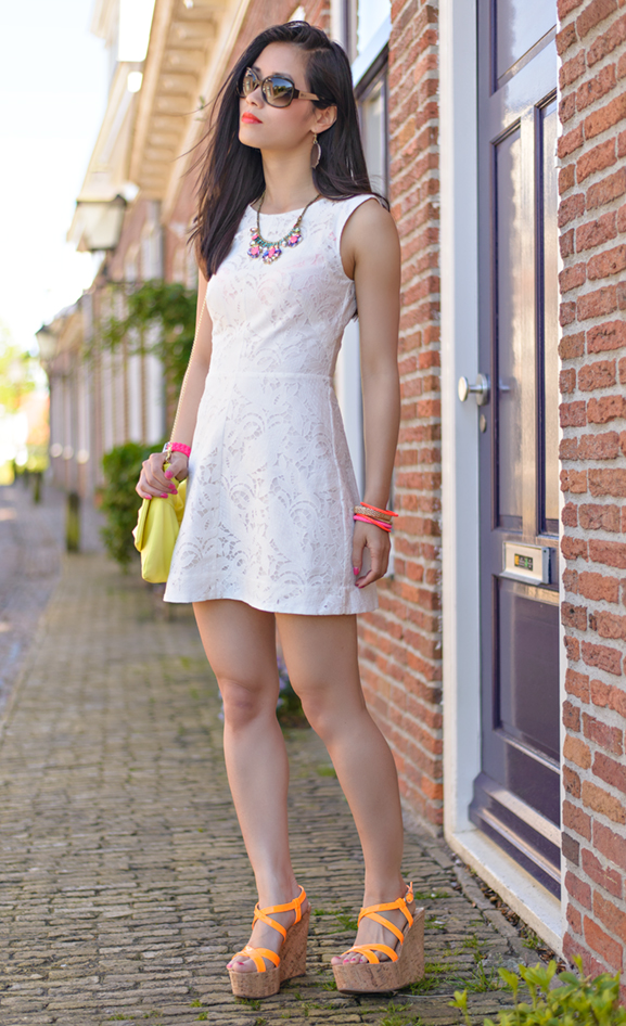 Miss-Roberta-Italian-musthave-shoes-my-huong Outfit: The white lace dress