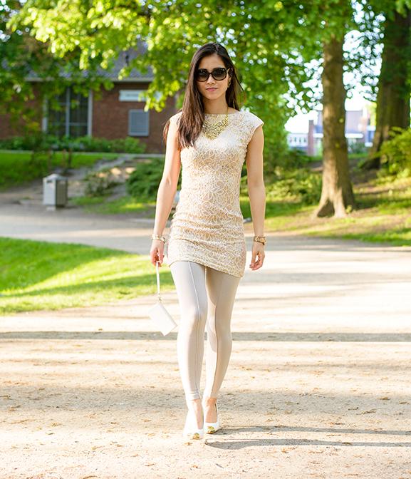 My-Huong-max30-jurkje-legging-gold Outfit: The White/Rose Dress