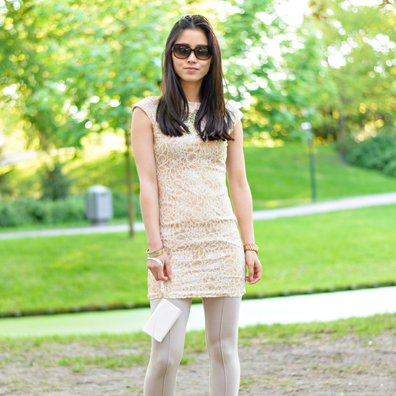 My-Huong-outfit-of-the-day-rose-gold-print-dress Outfit: The White/Rose Dress