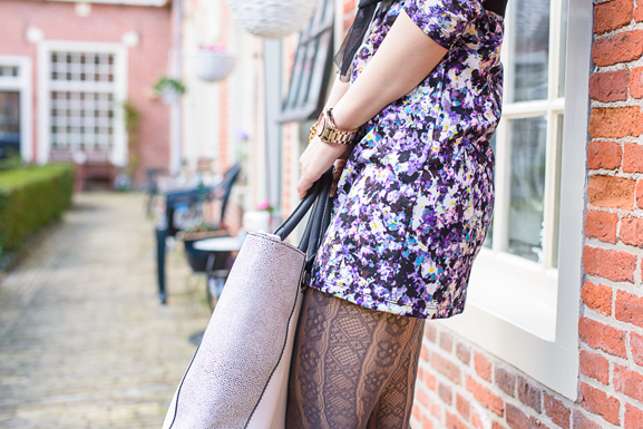 Outfit-floral-dress-hm Outfit: Floral Purple dress