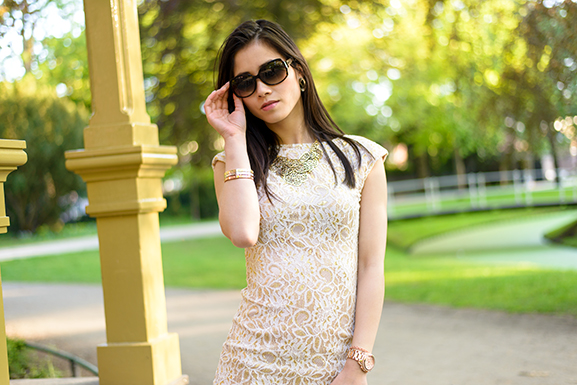 dior-sunglasses Outfit: The White/Rose Dress