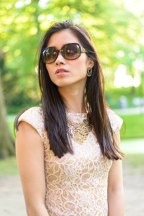 look-outfit-of-the-day Outfit: The White/Rose Dress