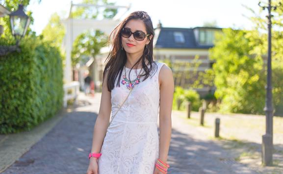 my-huong-wit-jurkje-beaty-asian-model- Outfit: The white lace dress