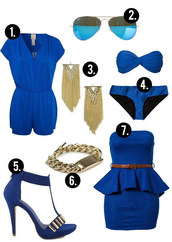 Kobaltblauw-collage-dress-nelly.com-pumps-gold Trend: Kobaltblauw