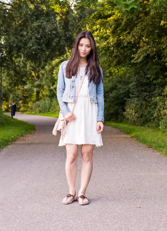 My-Huong-Jurkje-Jeans-boslook Outfit: Daydreams