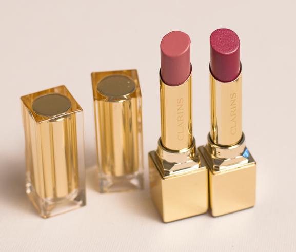 Rouge-eclat-lipstick-clarins-Nude-en-true-aubergine NEW: Clarins Mono eyeshadow,  Rouge Eclat &  Instant lip perfector