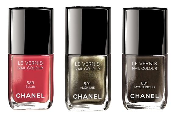 Chanel-autumn-le-vernis-C3-89lixir-589-Alchimie-591-Mysterious-601- Chanel Collection Superstition - herfstcollectie 2013