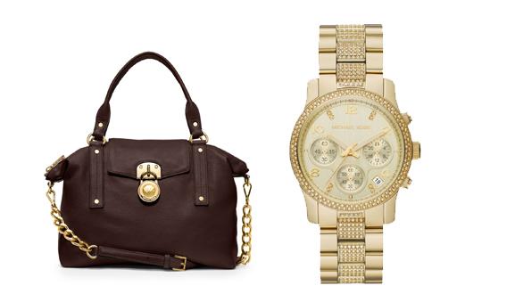 Michael-Kors-Herfstcollectie-tas-2013-horloge-watche-gold-satchel Musthaves: Michael Kors Accessoires