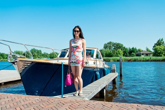 My-Huong-Outfit-Dress Outfit: Summer day at the boat