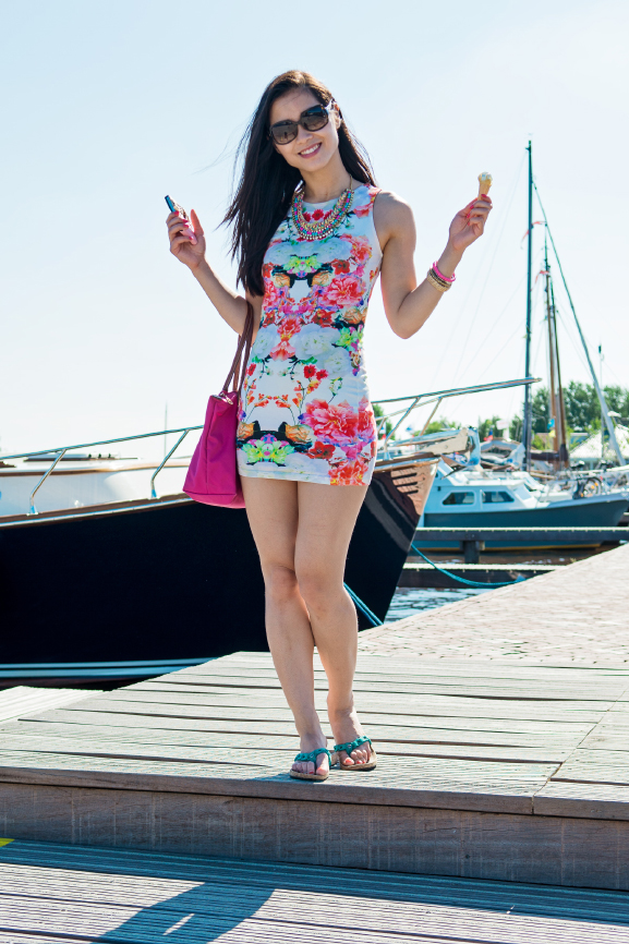 My-Huong-Outfit-jurk-dress Outfit: Summer day at the boat