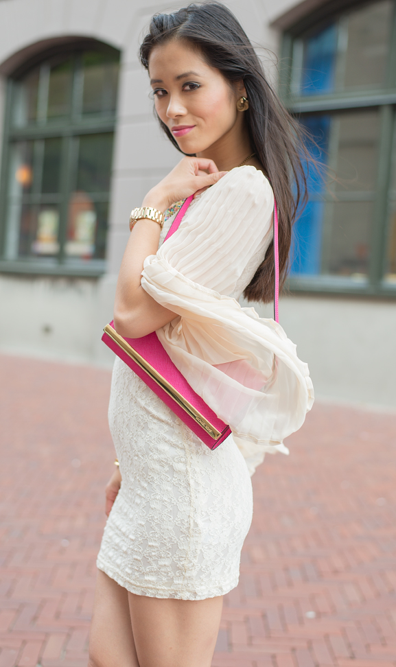 Outfit-look-my-HUong Oufit: Romantic White with Pink