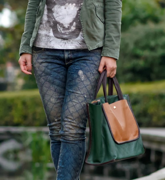 casual-herfst-look Outfit: Casual militairy look