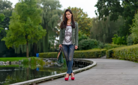 look-outfit-casual-legergroen Outfit: Casual militairy look