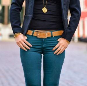 petrol-skinny-jeans-combineren-300x296 Outfit: the petrol skinny jeans