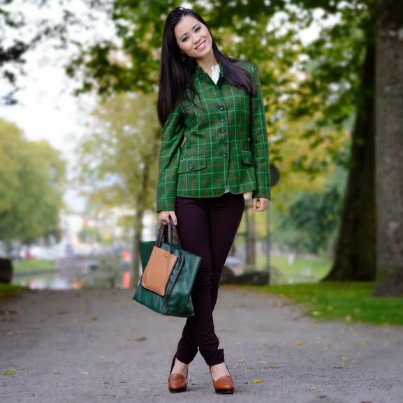 Autumn-look-Peter-Hahn Outfit: groene herfst jasje