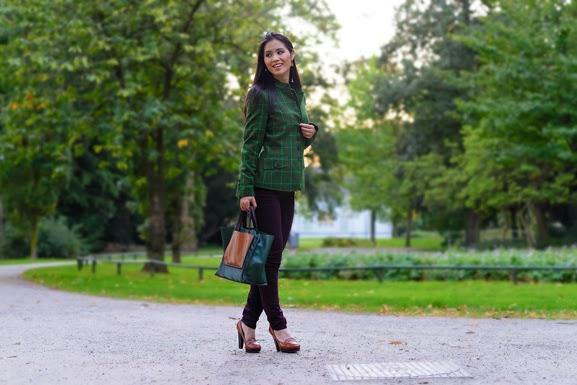 DSC4381 Outfit: groene herfst jasje