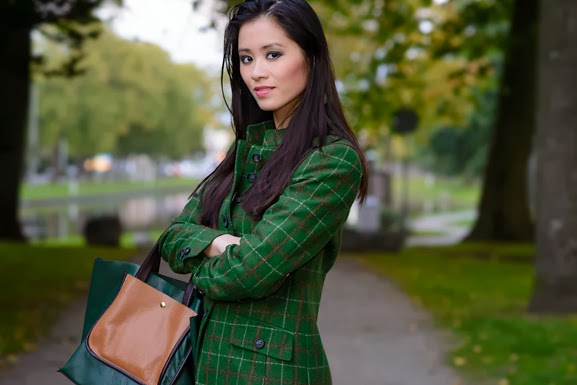 DSC4411 Outfit: groene herfst jasje