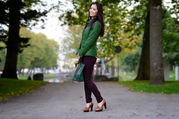 DSC4428 Outfit: groene herfst jasje