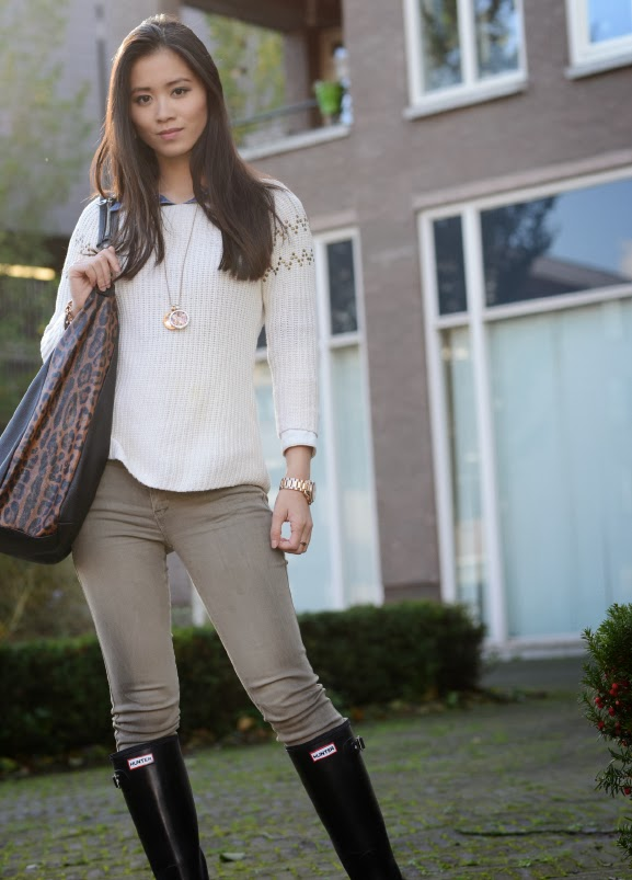 Hunters-outfit Outfit: Hunter rain boots