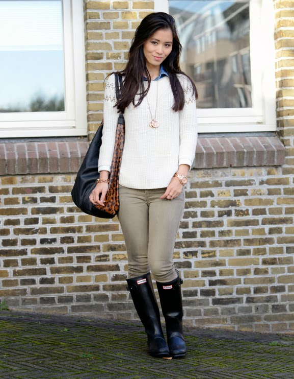 hunters-look Outfit: Hunter rain boots